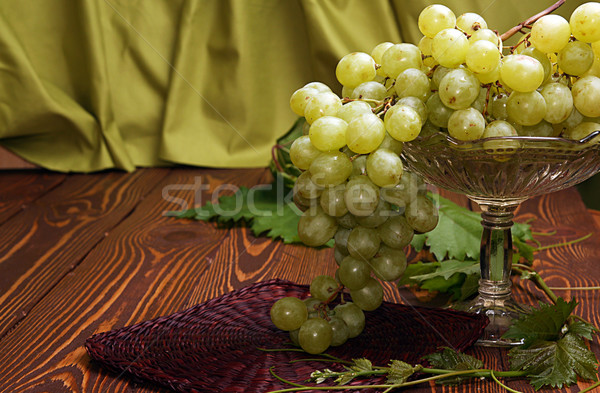 Bunch of grapes in vase for fruits Stock photo © user_11056481