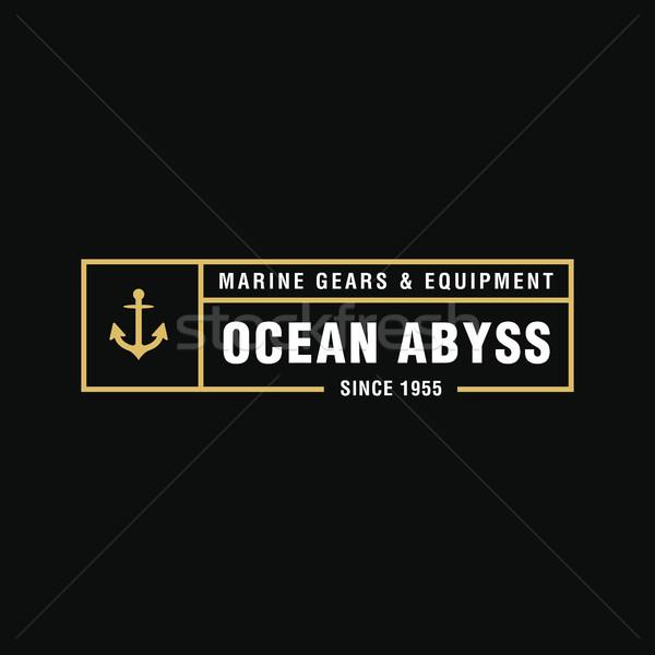 Vintage морской логотип ретро Сток-фото © user_11138126