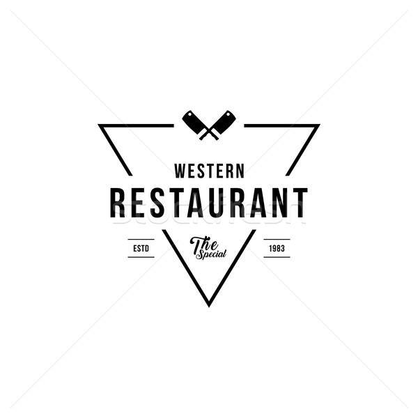 Restaurante logos projeto elementos Foto stock © user_11138126