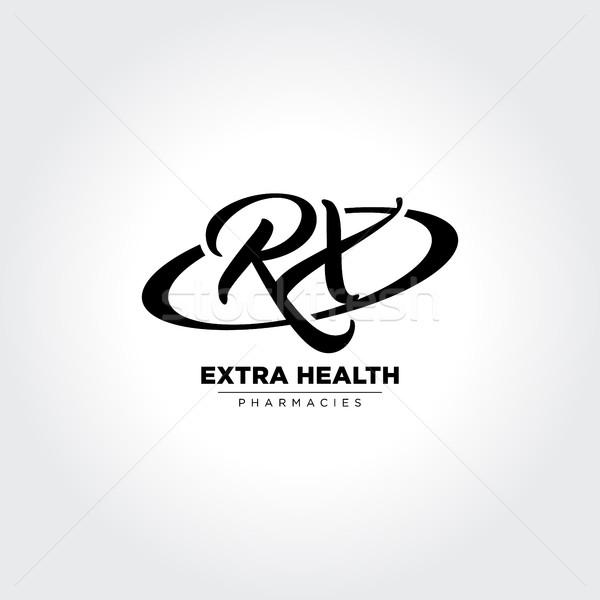 Carta rx dentro círculo símbolo criador Foto stock © user_11138126