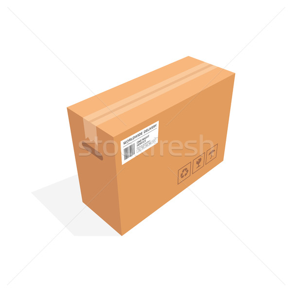 Isometric cardboard box packaging isolated, vector illustration design Stock photo © user_11138126