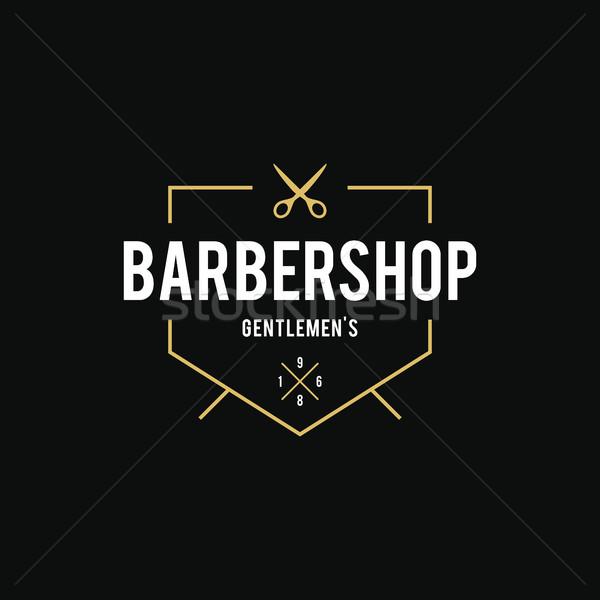 Vintage barbier winkel logo verbazingwekkend stijl Stockfoto © user_11138126