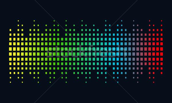 Musik logo Schallwelle Audio Technologie abstrakte Form Stock foto © user_11138126