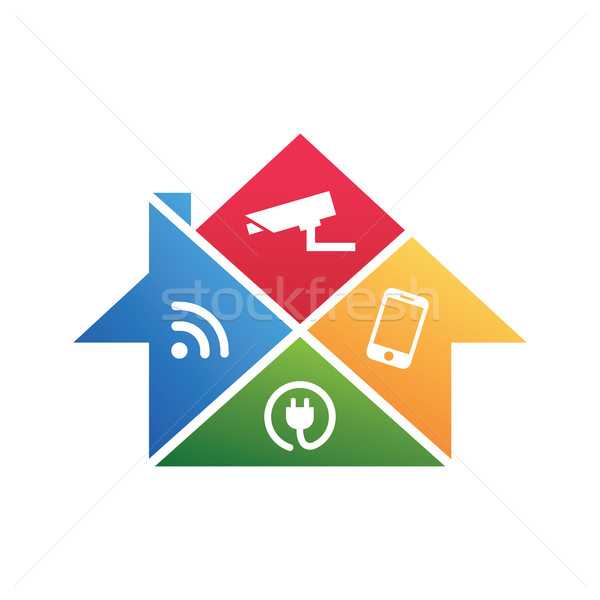 Home Security Technology, cctv and monitoring system Stock photo © user_11138126