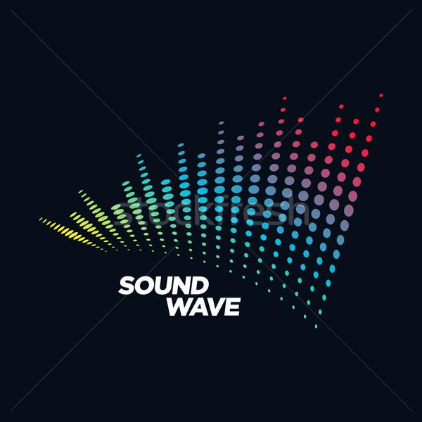 Muziek logo geluidsgolf audio technologie abstracte vorm Stockfoto © user_11138126