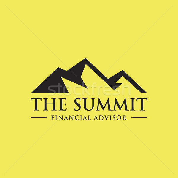 vector illustration of Mountain, Nature concept logo, Summit, Peak Stock photo © user_11138126