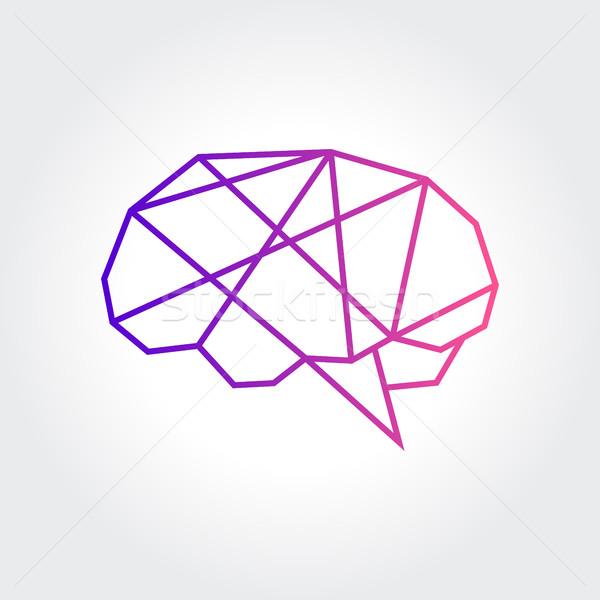 Hersenen symbool abstract ontwerp verbazingwekkend Stockfoto © user_11138126