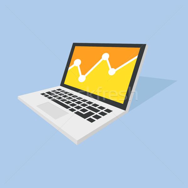Isometrische notebook laptop ontwerp stijl verbazingwekkend Stockfoto © user_11138126