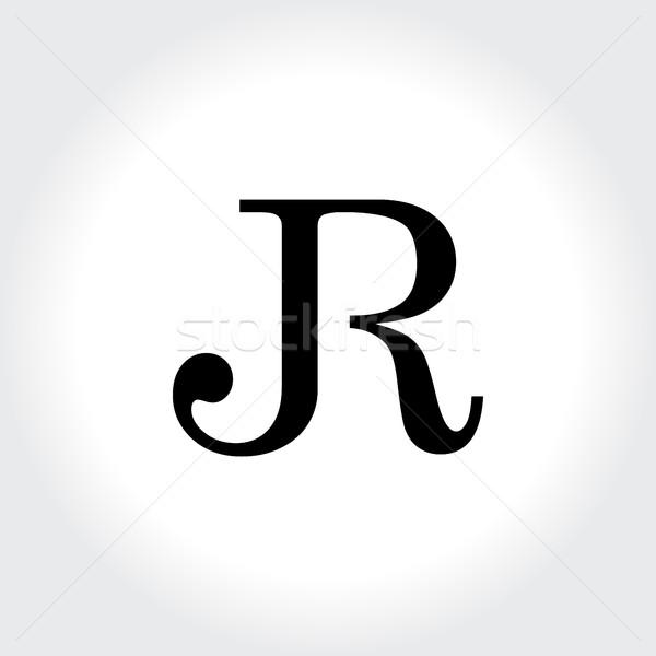 Letter JR symbol, creative alphabet icon design Stock photo © user_11138126