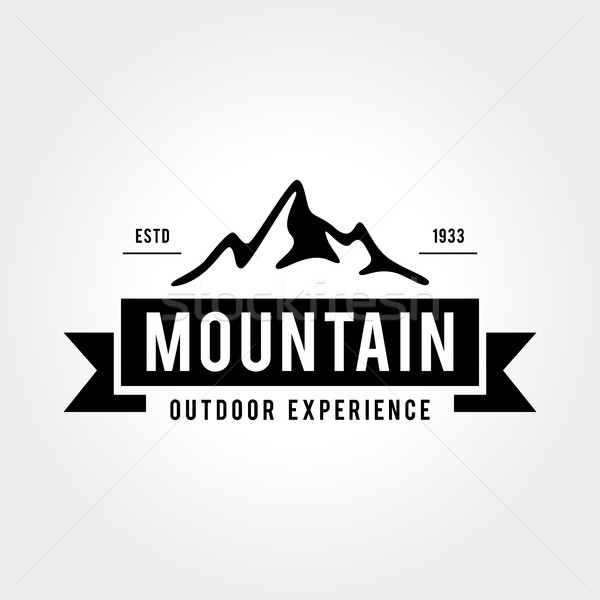 Outdoor Wilderness, Mountain Adventure Retro Emblem Stock photo © user_11138126