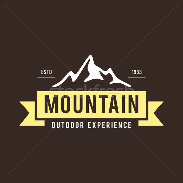 Outdoor Wilderness, Mountain Adventure Retro Emblem Stock photo © user_11138126
