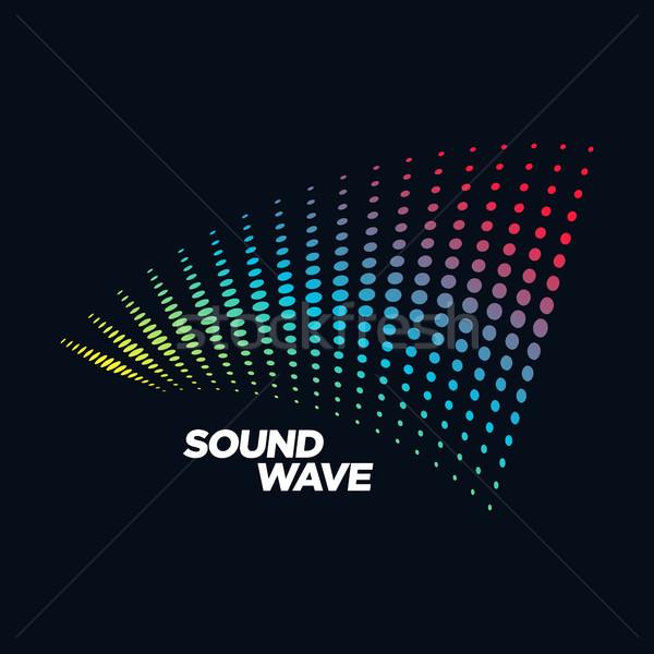 Musique logo onde sonore audio technologie forme abstraite Photo stock © user_11138126