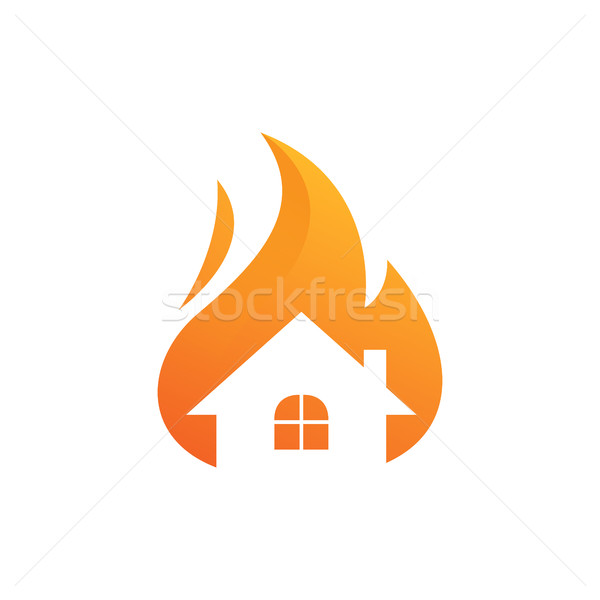 House on Fire, Alarm Technology and monitoring Stock photo © user_11138126