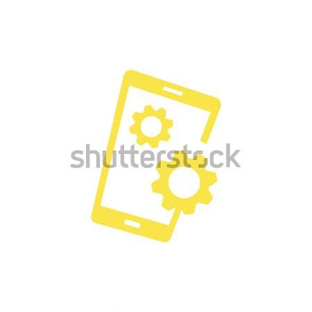 Viselet bent hatszög terv ikon elképesztő Stock fotó © user_11138126