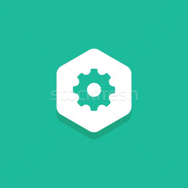 внутри шестиугольник дизайна икона удивительный Сток-фото © user_11138126