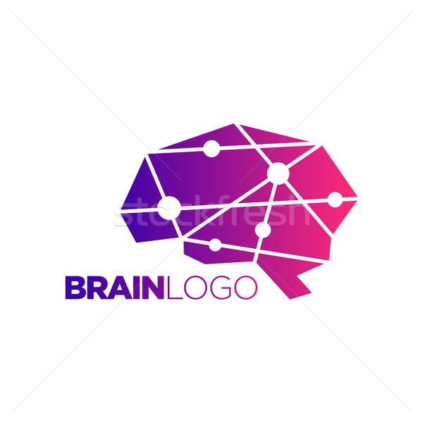 Cervello simbolo abstract design incredibile Foto d'archivio © user_11138126