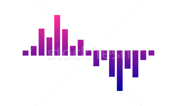 музыку логотип звуковая волна аудио технологий Сток-фото © user_11138126