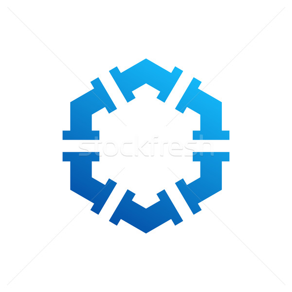 Hatszög terv ikon elképesztő szimbólum üzlet Stock fotó © user_11138126