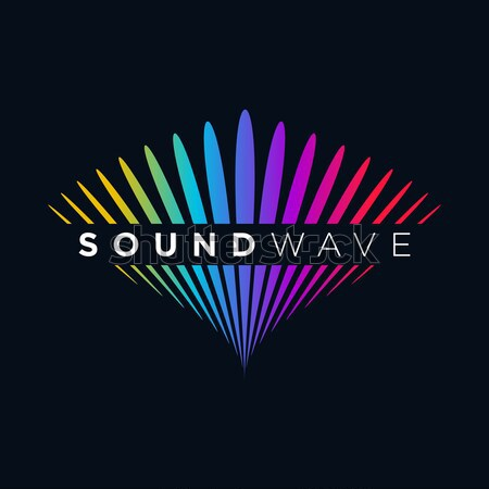 Music Logo concept Sound Wave, Audio Technology, Abstract Shape Stock photo © user_11138126