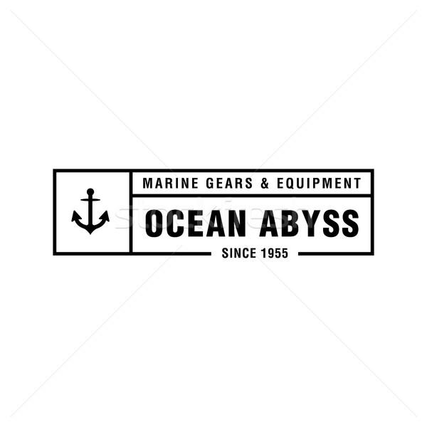 Vintage morski logo retro Zdjęcia stock © user_11138126