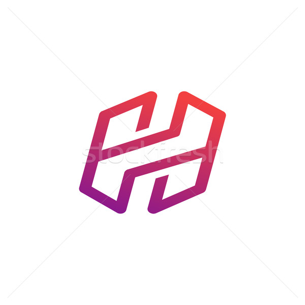 Letter H symbol, creative alphabet icon design vector illustration