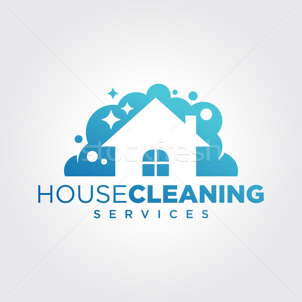 Stock photo: Cleaning Service Business logo design, Eco Friendly Concept for Home and Building