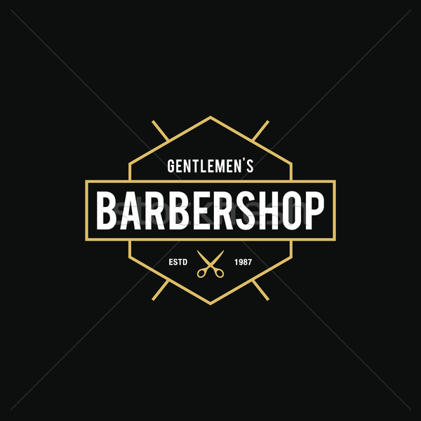 Klasszikus fodrász bolt logo elképesztő stílus Stock fotó © user_11138126