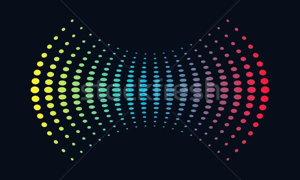 Müzik logo ses dalgası ses teknoloji Stok fotoğraf © user_11138126