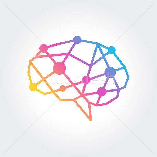 Cérebro símbolo abstrato projeto surpreendente Foto stock © user_11138126