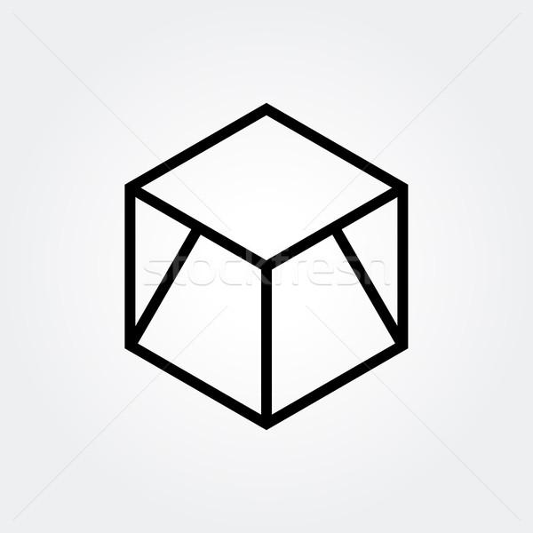 Absztrakt hatszög terv ikon elképesztő szimbólum Stock fotó © user_11138126