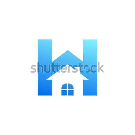 House inside Letter H symbol, creative alphabet icon design Stock photo © user_11138126