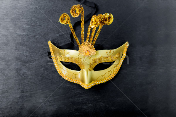Golden Carnival mask Stock photo © user_11224430