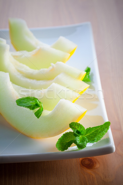 Honeydew melon slices Stock photo © user_11224430