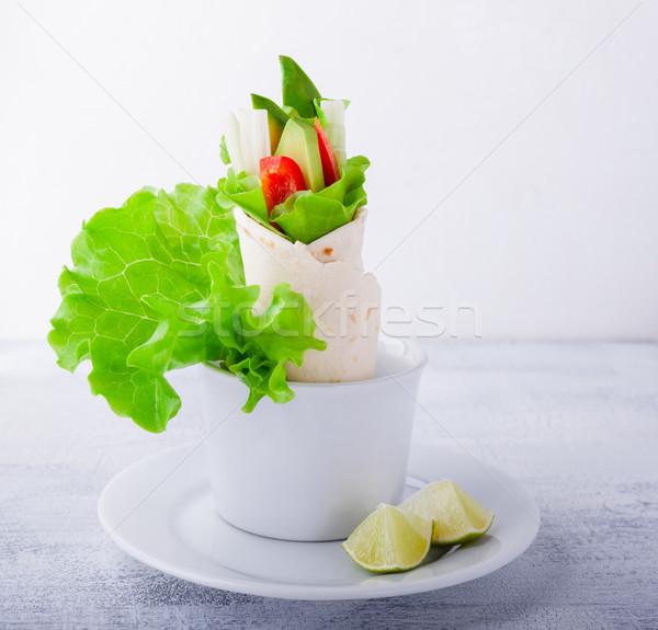 Vegetable wrap sandwiches Stock photo © user_11224430