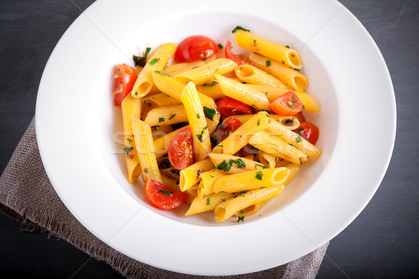 Penne with anchovy and tomato Stock photo © user_11224430