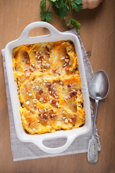 Abóbora batatas carne carne alimentação batata Foto stock © user_11224430