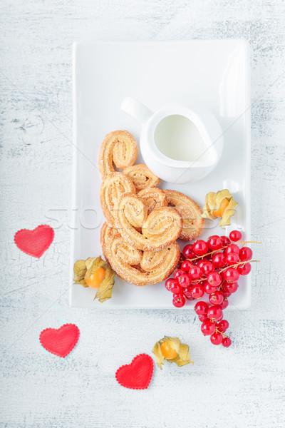 Печенье сахар корицей продовольствие завтрак Сток-фото © user_11224430