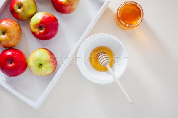 яблоки гранат меда продовольствие яблоко таблице Сток-фото © user_11224430