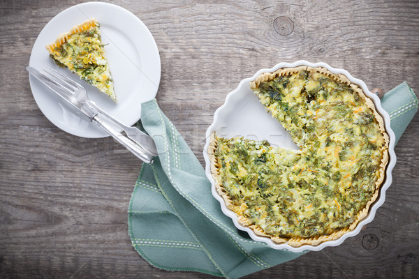 Spinache quiche, gluten free Stock photo © user_11224430