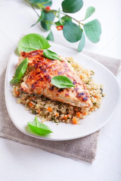焼き鳥 乳がん 食品 鶏 ディナー 肉 ストックフォト © user_11224430