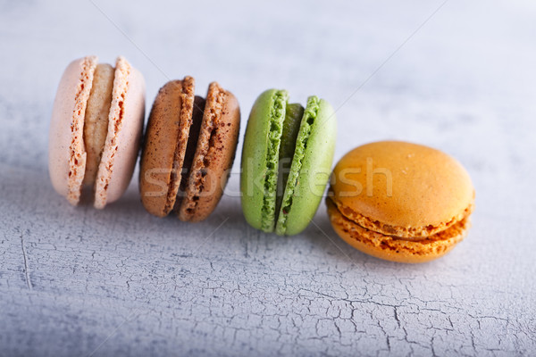 Colorful french macaroons Stock photo © user_11224430