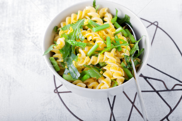 Pasta salad with asparagus and arugula Stock photo © user_11224430