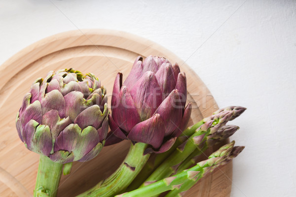 Artichokes and asparagus Stock photo © user_11224430