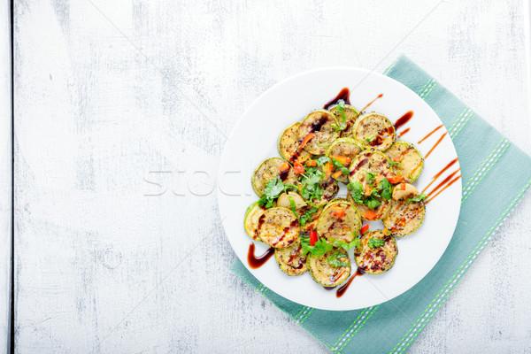 жареный цуккини блюдо морковь служивший Сток-фото © user_11224430