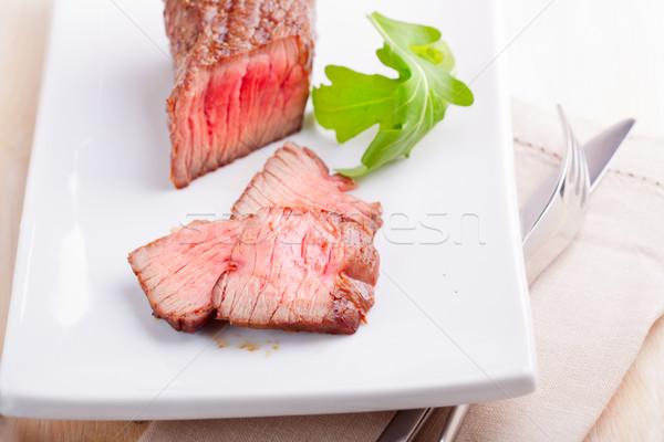 Fresh medium grilled steak Stock photo © user_11224430