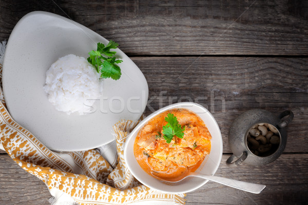 Chicken curry and rice Stock photo © user_11224430