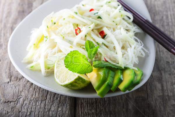 Spicy kohlrabi noodles  Stock photo © user_11224430