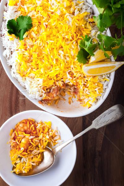 Indian Biryani Casserole with Shrimp Stock photo © user_11224430