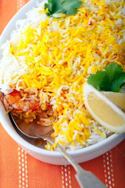 インド エビ 石灰 白 プレート 食品 ストックフォト © user_11224430