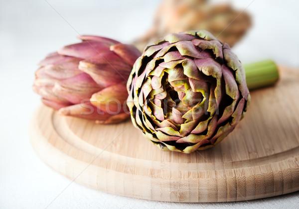 3  木製 まな板 野菜 紫色 写真 ストックフォト © user_11224430
